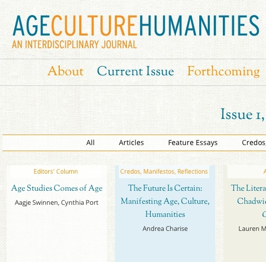 Cover of Journal of Age, Culture and Humanities